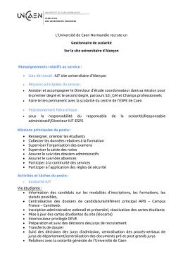 Publication gestionnaire scolarité Alençon