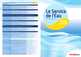 Service de l`Eau - Tarification 2016 - Grand