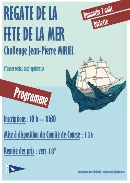 Affiche fête de la mer 2016