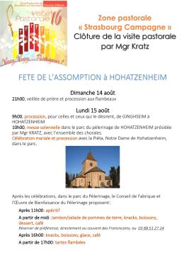 FETE DE L`ASSOMPTION à HOHATZENHEIM