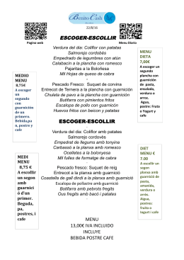 menu 13,00€ iva incluido incluye bebida postre cafe