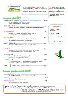 Glaces - Restaurant Le Pic Vert