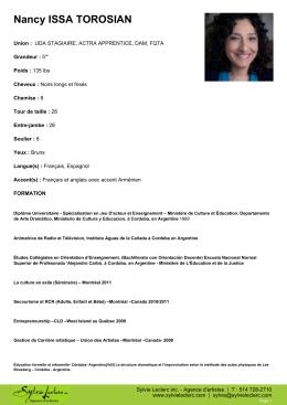 Télécharger le CV en format PDF - Sylvie Leclerc inc. Agence d