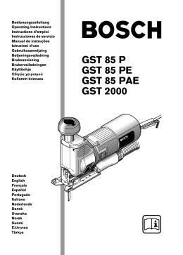 GST 85 P GST 85 PE GST 85 PAE GST 2000
