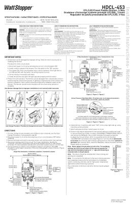 HDCL-453 · Notice d`Installation· Instrucciones de