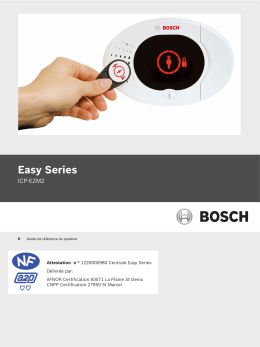 Centrale BOSCH Easy