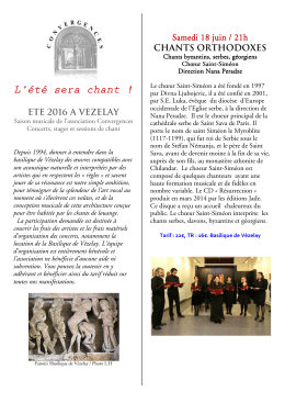 Concerts - Vézelay Association Convergences