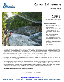 Canyon Sainte-Anne - Expression Voyages