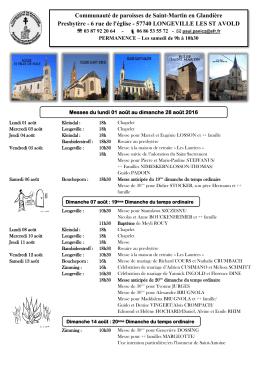 Communauté de paroisses de Saint-Martin en