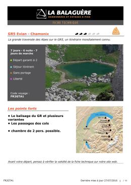 GR5 Evian - Chamonix Les points forts