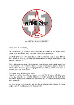Lettre du Président - FLYING ZONE 51 RC Club