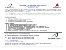 Défi de Patinage Canada 2017 2 au 4 décembre