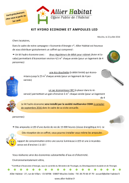 kit hydro econome et ampoules led