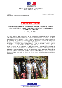 2016-07-25 Passation de commandement du RIMaP-P