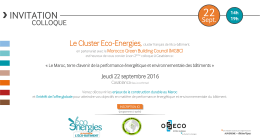 Colloque Casablanca – jeudi 22 septembre - Cluster Eco