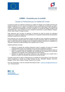 LEMMA – Ensemble pour la mobilité Soutien au Partenariat pour la