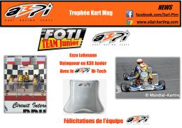 Trophée Kart Mag Félicitations de l`équipe