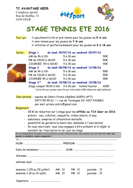 stage tennis ete 2016