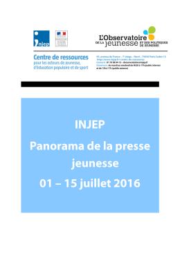 Panorama de la presse Jeunesse du 1er au 15 juillet 2016
