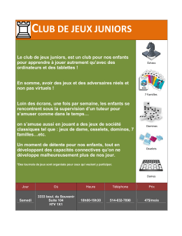 club de jeux juniors