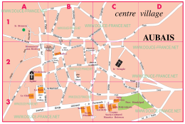 Aubais Plan du Centre ville