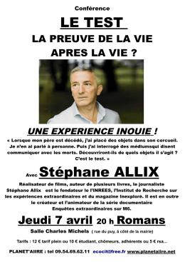 conference stéphane allix