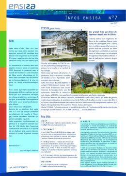 lettre d`infos ENSISA n°7