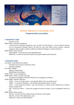 espace paroles et solidaire 2016 - Festival Interceltique de Lorient