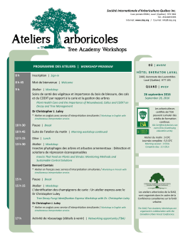 Ateliers arboricoles Tree Academy Workshops