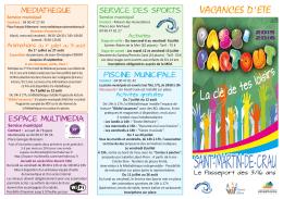 Pass`Partout des vacances d`été 2016 - Ville de Saint-Martin-de-Crau