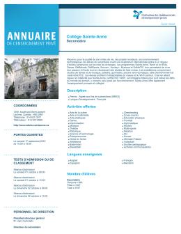 Collège Sainte-Anne