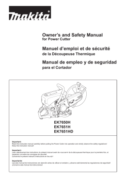 Owner`s and Safety Manual Manuel d`emploi et de sécurité Manual