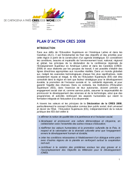 plan d`action cres 2008