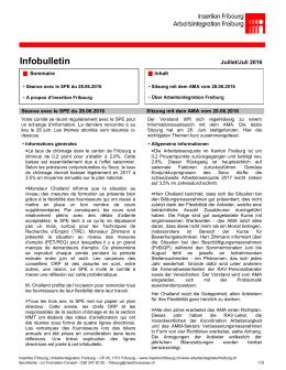 Infobulletin Juillet/Juli 2016
