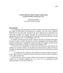 Introduction - Revue des Études Berbères