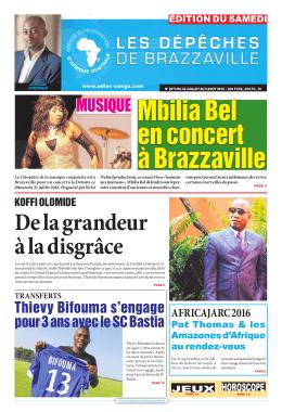MUSIQUE - Les Dépêches de Brazzaville