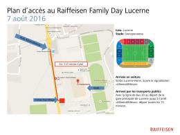 Plan d`accès au Raiffeisen Family Day Lucerne 7