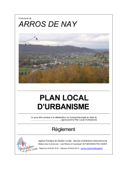 ARROS DE NAY PLAN LOCAL D`URBANISME