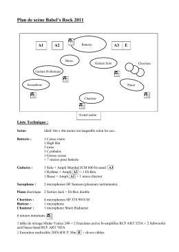 Plan de scène et liste technique
