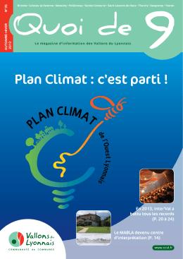 Plan Climat : c`est parti !