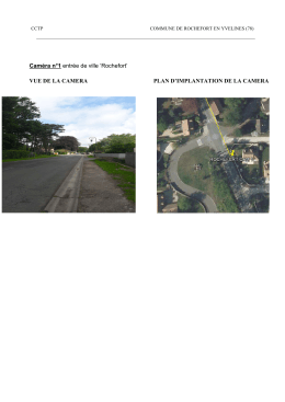 Implantation des caméras - Mairie Rochefort en Yvelines