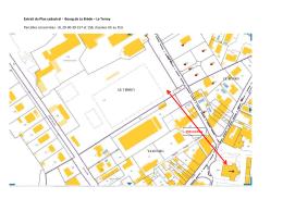 Extrait du Plan cadastral - Bourg de La Brède – Le Terrey Parcelles