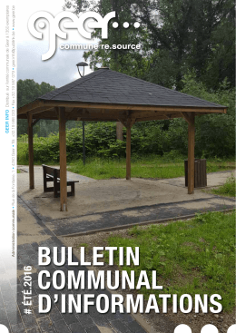 BULLEtIN commUNaL d`INformatIoNs