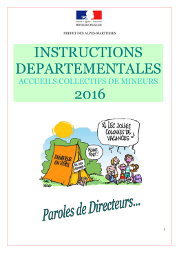 INSTRUCTIONS ACM 2016 - Les services de l`État dans les Alpes