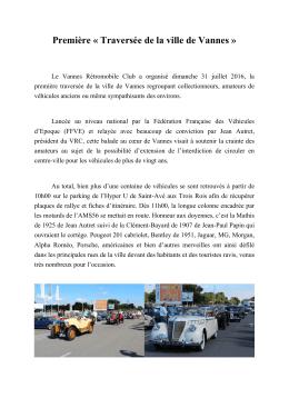 Première « Traversée de la ville de Vannes