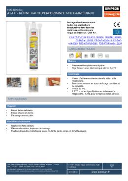 AT-HP Résine haute performance multi-matériaux