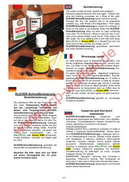 KLEVER-Schnellbrünierung - ACP