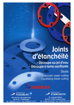 Joints - Anfray