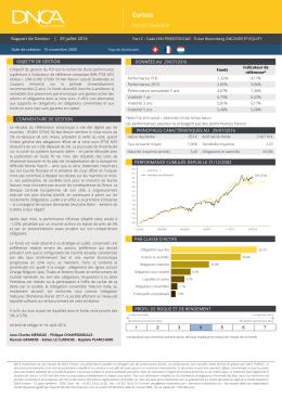 Rapport de gestion mensuel juillet 2016