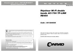 Répéteur Wi-Fi double bande AC1750 TP-LINK RE450